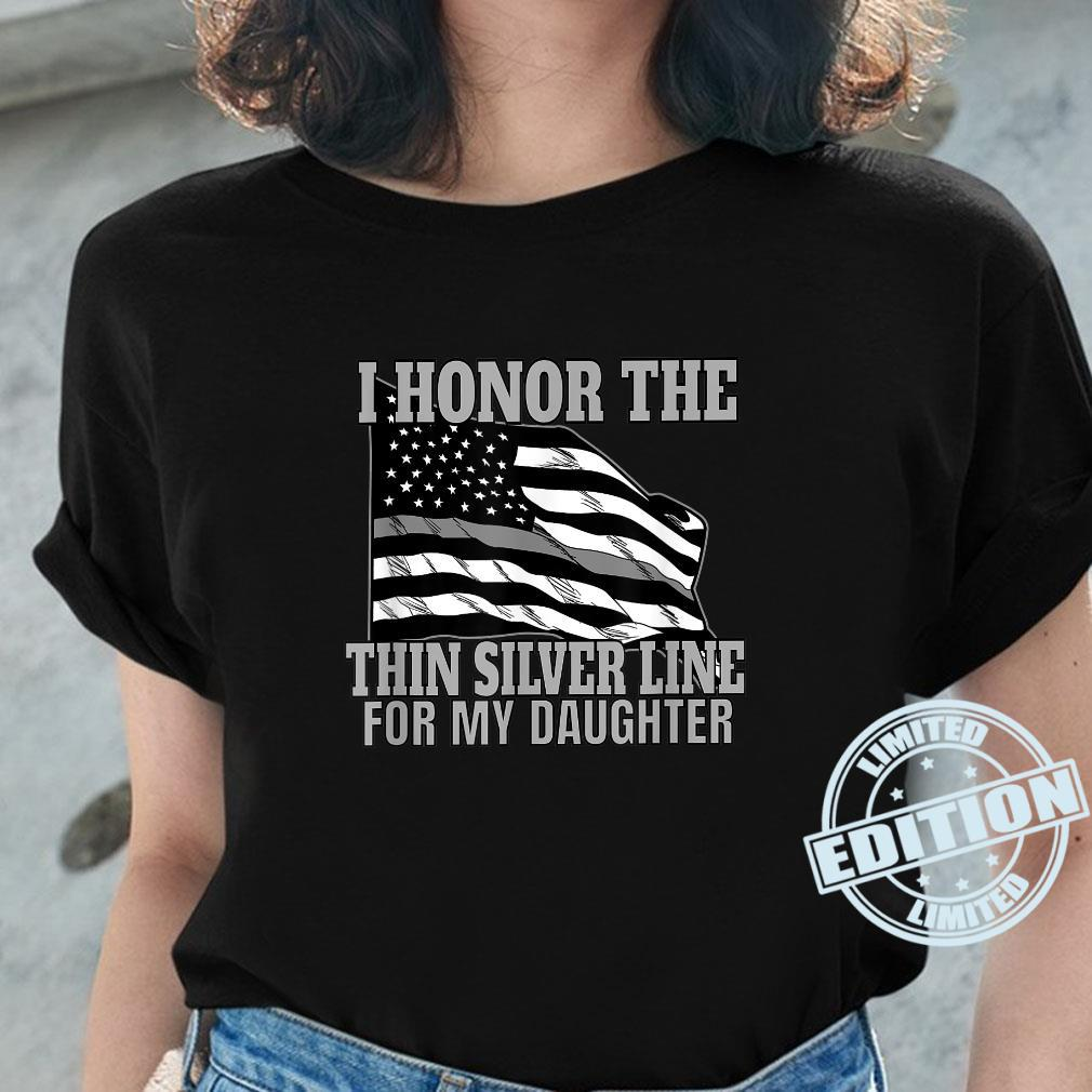 Corrections Officer Mom Dad Correctional Flag Shirt ladies tee