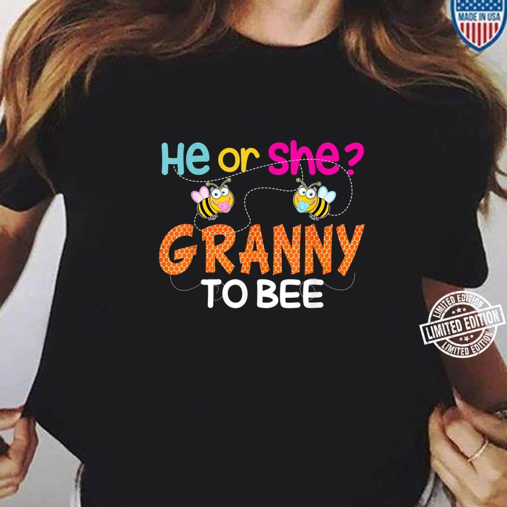 Gender Reveal What Will It Bee He Or She Granny Shirt ladies tee