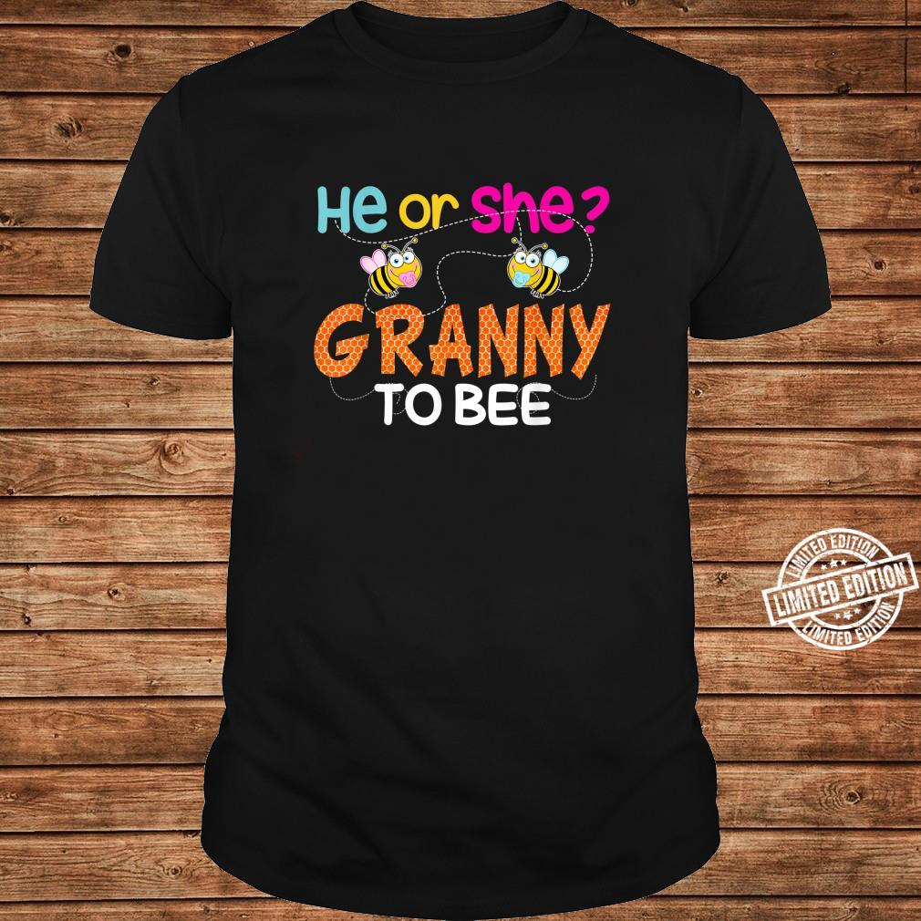 Gender Reveal What Will It Bee He Or She Granny Shirt long sleeved