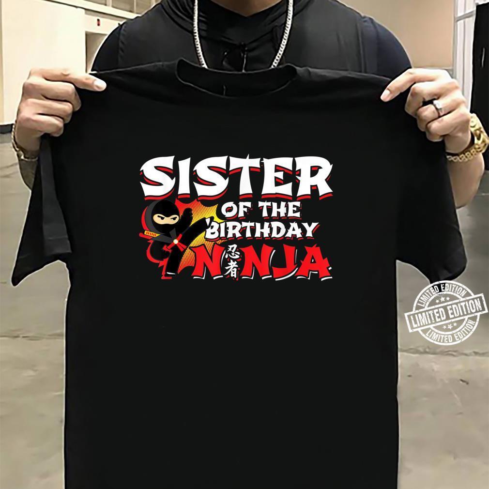 Ninja Birthday Party Sister of the Birthday Ninja Shirt sweater