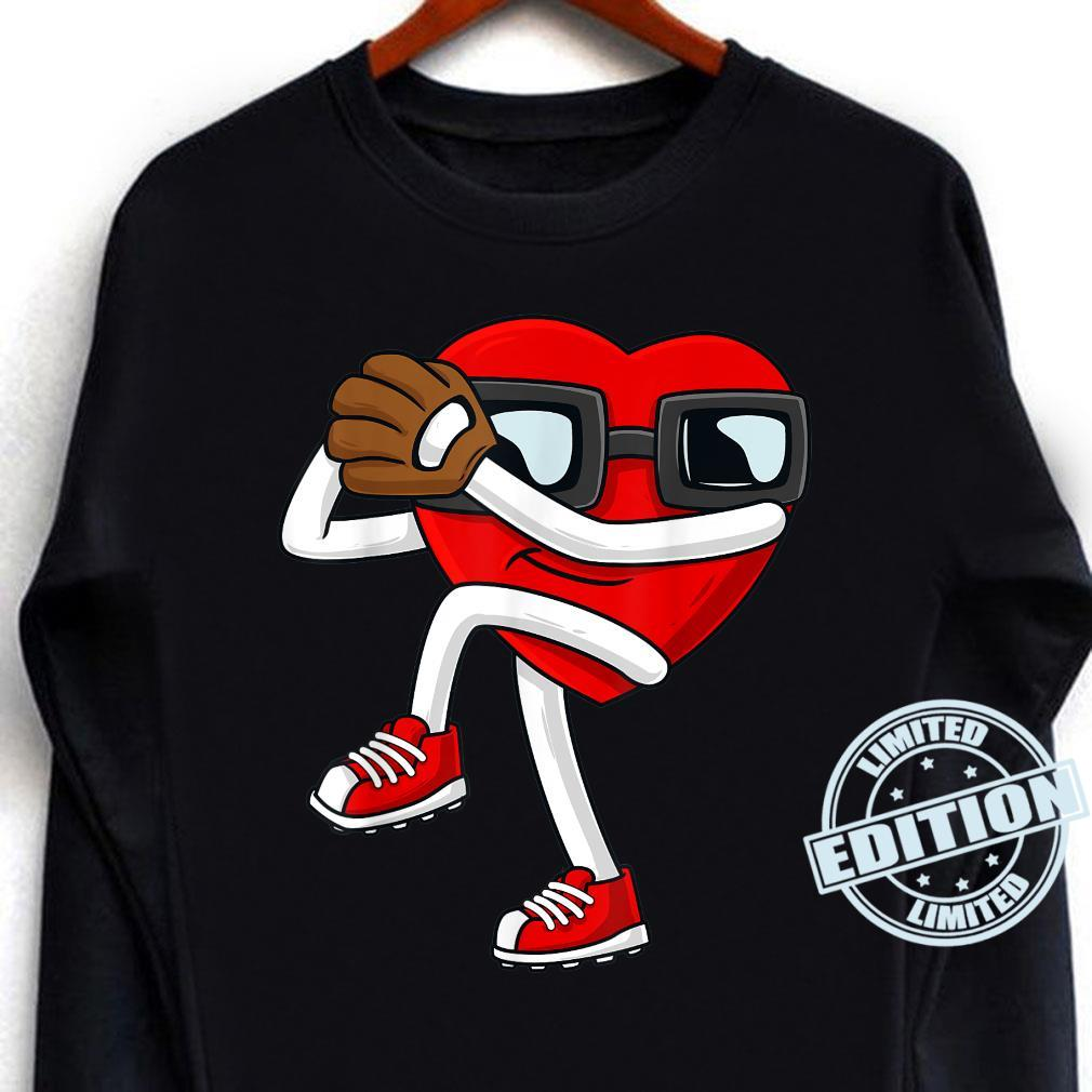 Valentines Day Heart Baseball Pitcher Boys Girls Shirt long sleeved