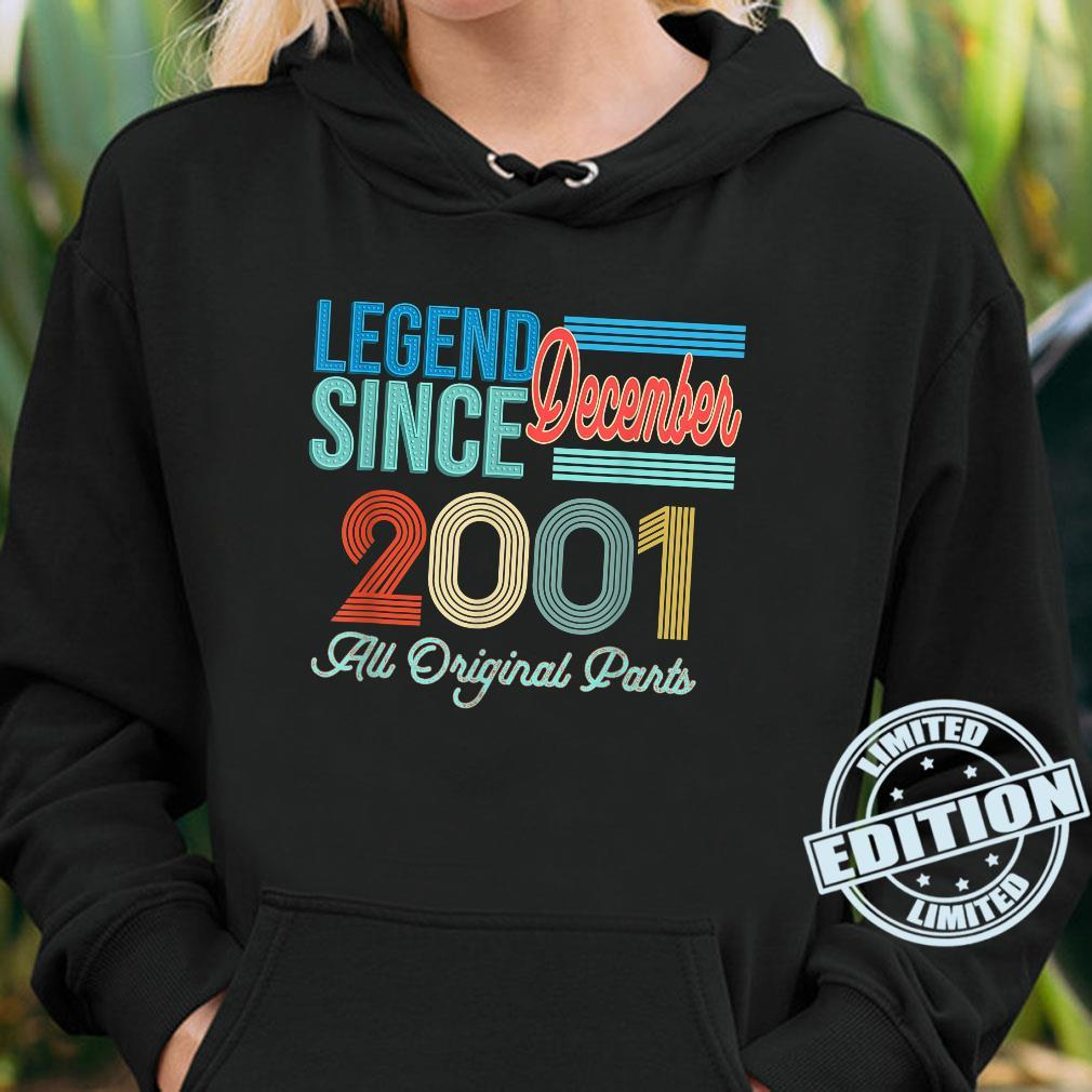 Vintage 2001 Legend Birthday Shirt December 2001 Vintage 20 Shirt hoodie