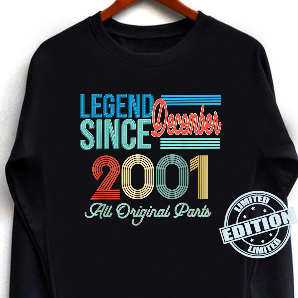Vintage 2001 Legend Birthday Shirt December 2001 Vintage 20 Shirt long sleeved