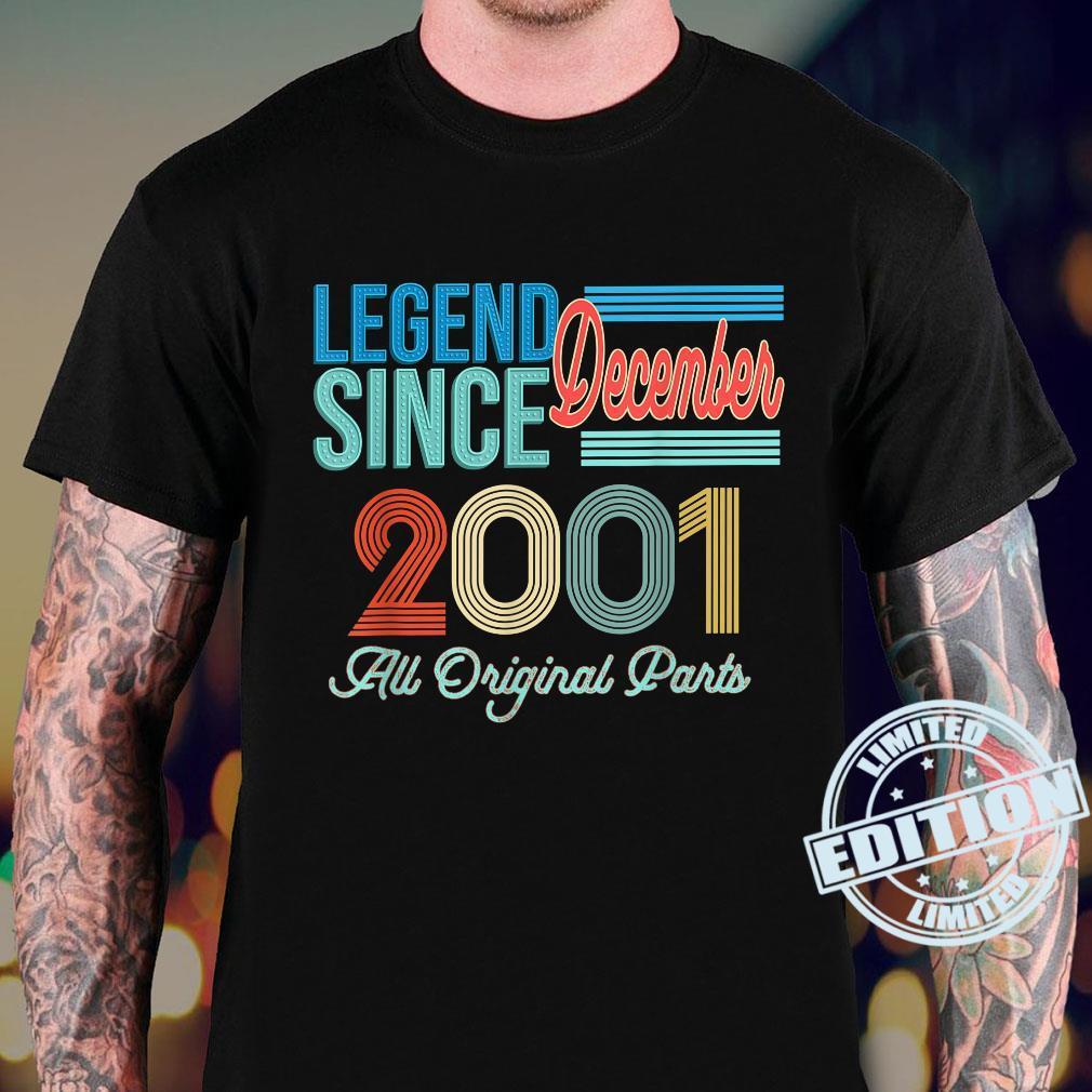 Vintage 2001 Legend Birthday Shirt December 2001 Vintage 20 Shirt sweater