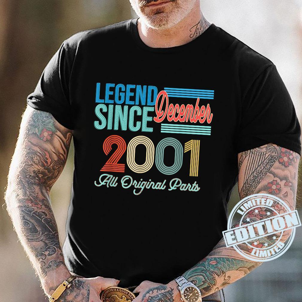 Vintage 2001 Legend Birthday Shirt December 2001 Vintage 20 Shirt
