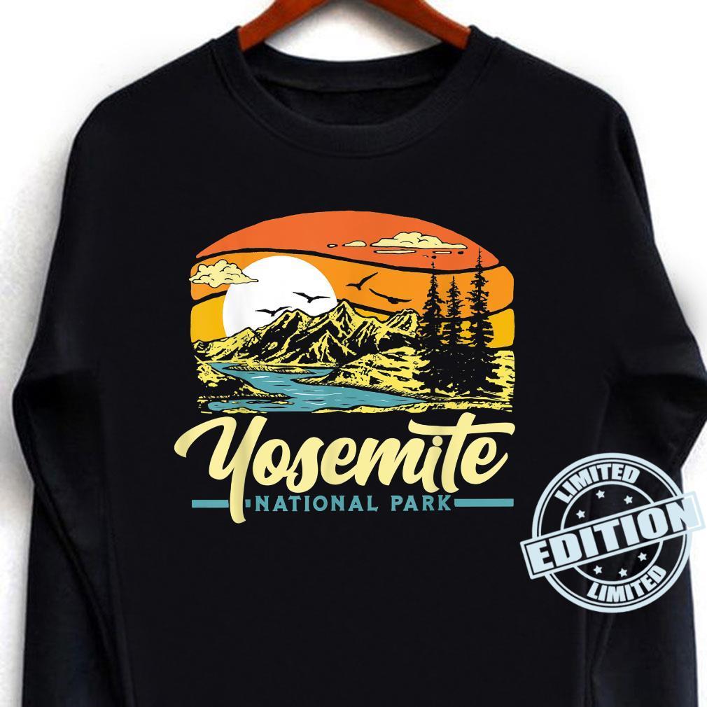 Yosemite National Park Vintage 80s Retro California Sunset Shirt long sleeved