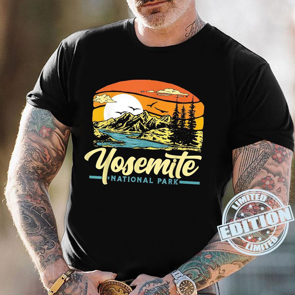 Yosemite National Park Vintage 80s Retro California Sunset Shirt