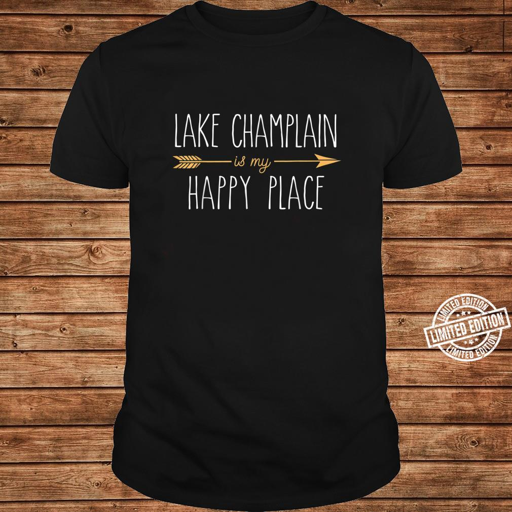 Lake Champlain is My Happy Place Cute Lake House Lifestyle Shirt long sleeved