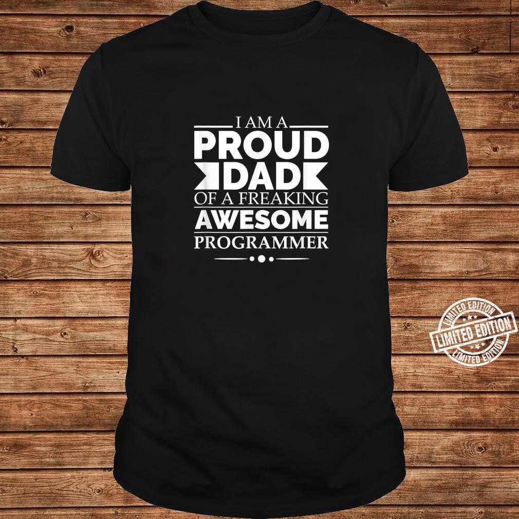 Proud Dad of Awesome Programmer Father's Day Graduation Shirt long sleeved